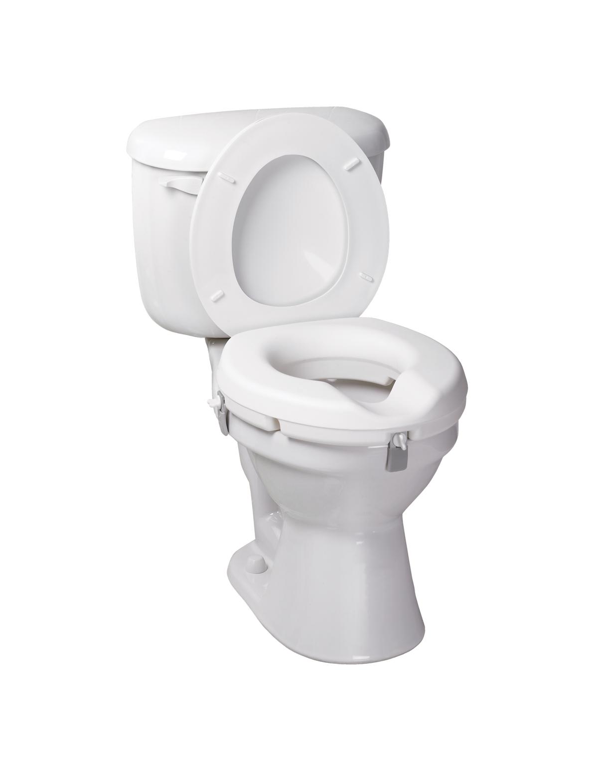 Raised toilet seats formedica - Rehausseur toilette pour adulte ...